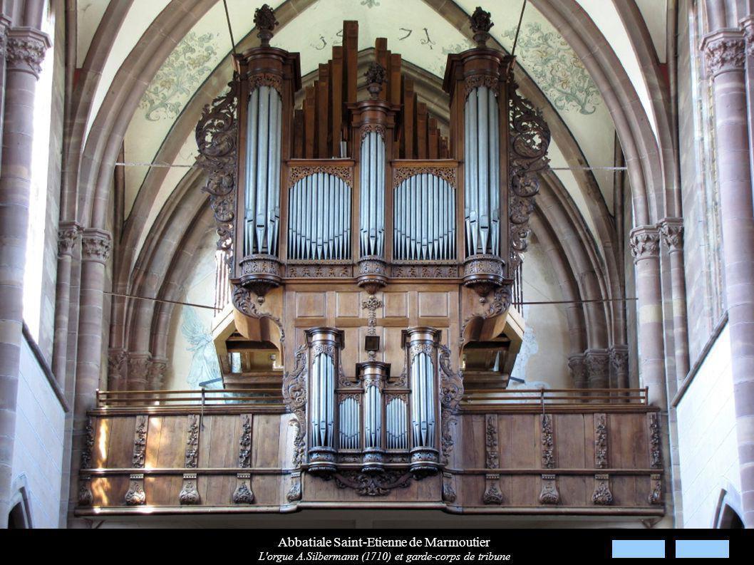 Abbatiale Saint-Etienne de Marmoutier L'orgue A.Silbermann (1710) et garde-corps de tribune