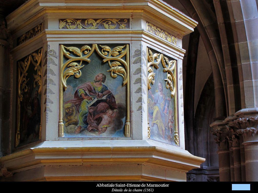 Abbatiale Saint-Etienne de Marmoutier Détails de la chaire (1561)