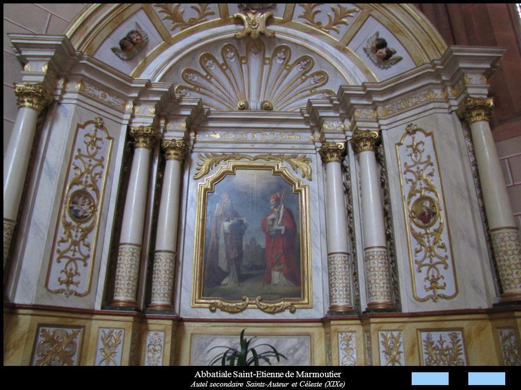 Abbatiale Saint-Etienne de Marmoutier Autel secondaire Saints-Auteur et Céleste (XIXe)