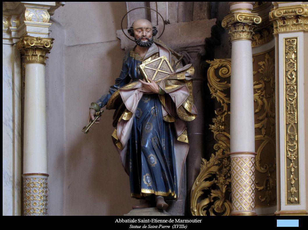 Abbatiale Saint-Etienne de Marmoutier Statue de Saint-Pierre (XVIIIe)