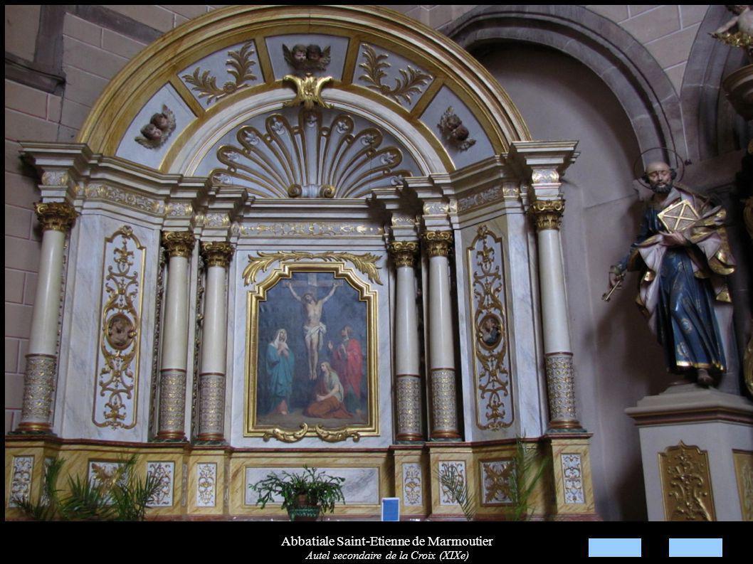 Abbatiale Saint-Etienne de Marmoutier Autel secondaire de la Croix (XIXe)
