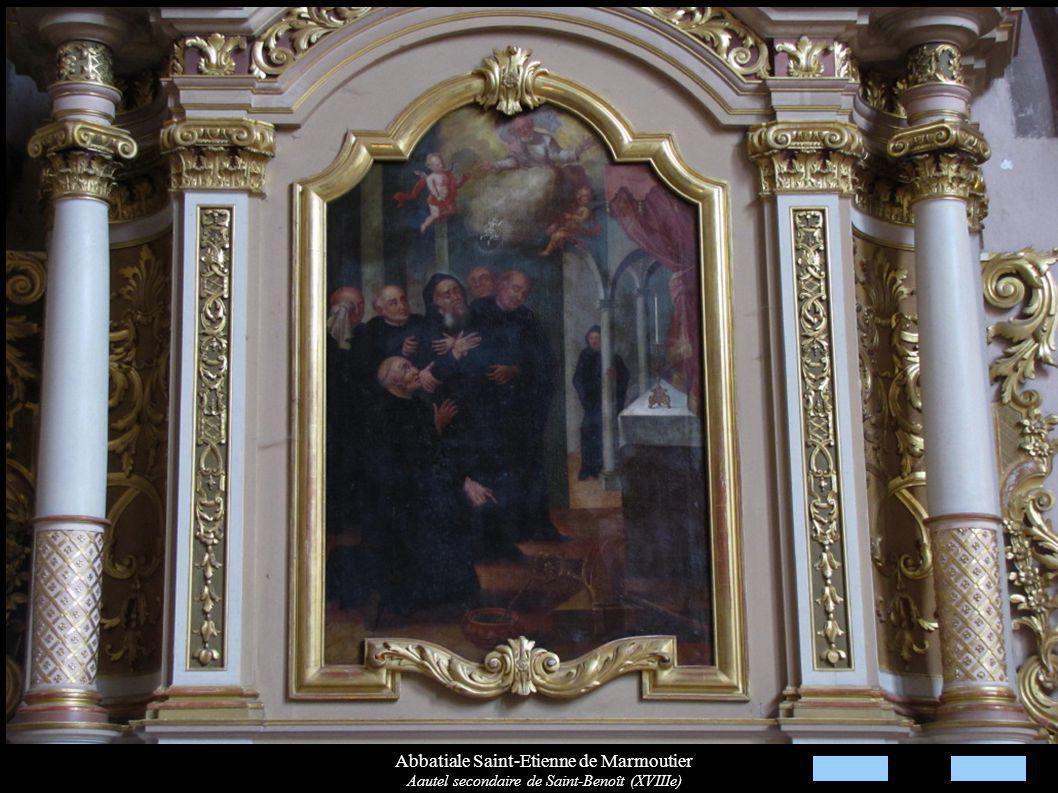 Abbatiale Saint-Etienne de Marmoutier Aautel secondaire de Saint-Benoît (XVIIIe)