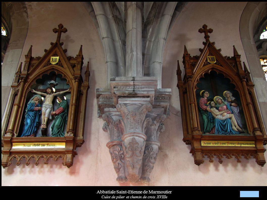 Abbatiale Saint-Etienne de Marmoutier Culot de pilier et chemin de croix XVIIIe