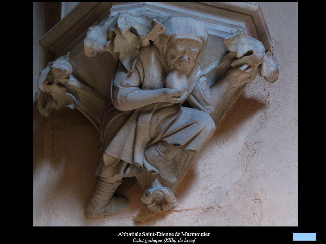 Abbatiale Saint-Etienne de Marmoutier Culot gothique (XIIIe) de la nef