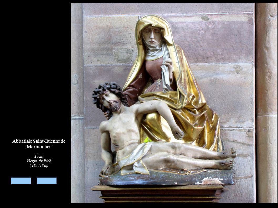 Abbatiale Saint-Etienne de Marmoutier Pietà Vierge de Pitié (XVe-XVIe)