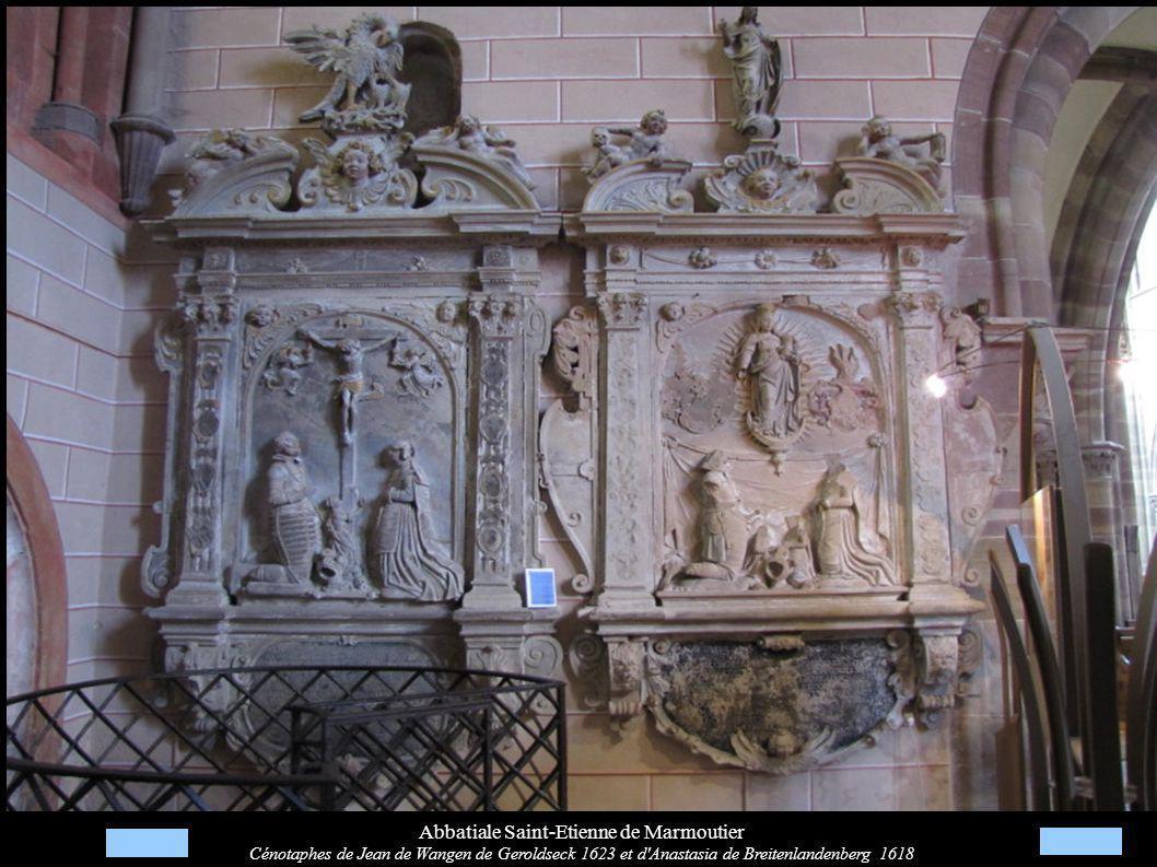 Abbatiale Saint-Etienne de Marmoutier Cénotaphes de Jean de Wangen de Geroldseck 1623 et d'Anastasia de Breitenlandenberg 1618