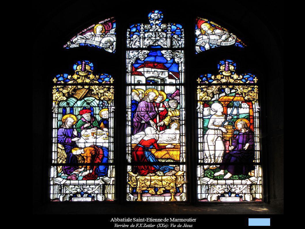 Abbatiale Saint-Etienne de Marmoutier Verrière de F.X.Zettler (XXe): Vie de Jésus