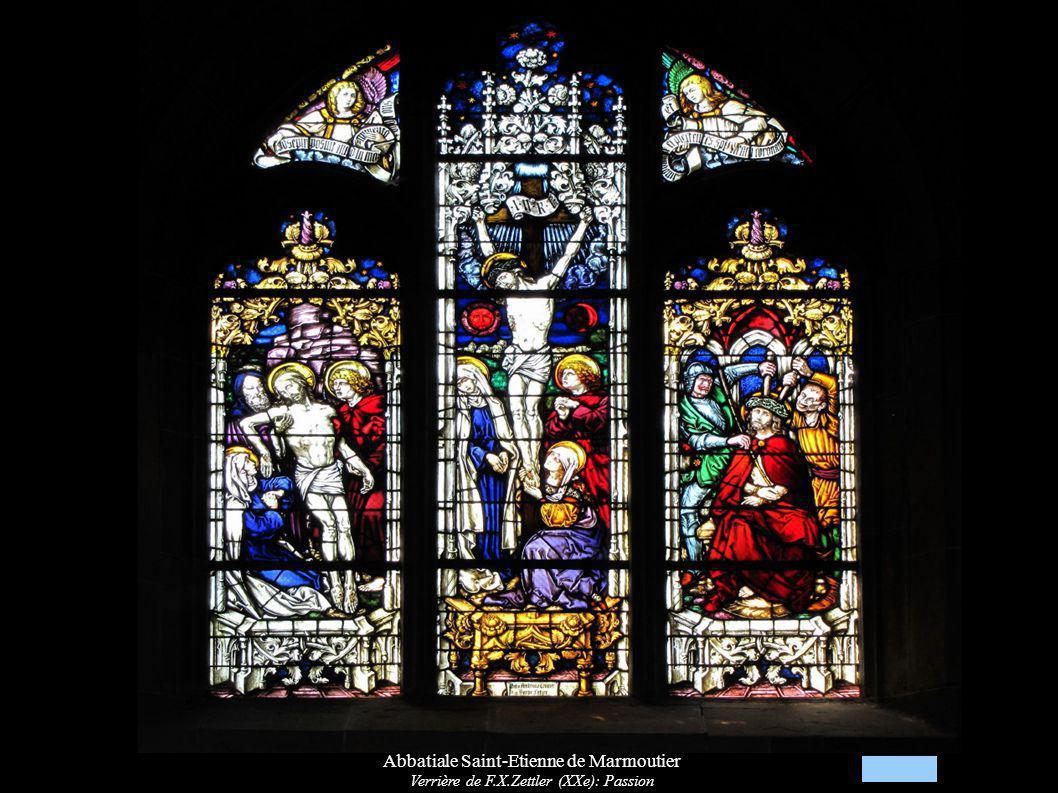 Abbatiale Saint-Etienne de Marmoutier Verrière de F.X.Zettler (XXe): Passion