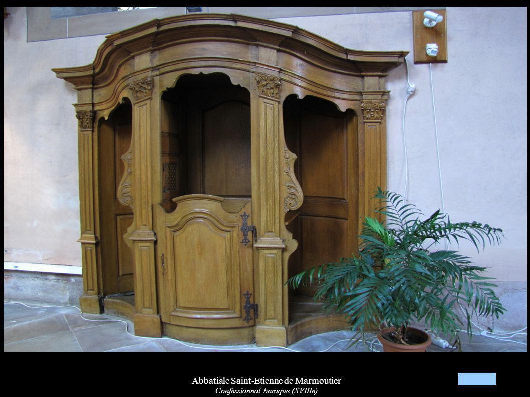Abbatiale Saint-Etienne de Marmoutier Confessionnal baroque (XVIIIe)