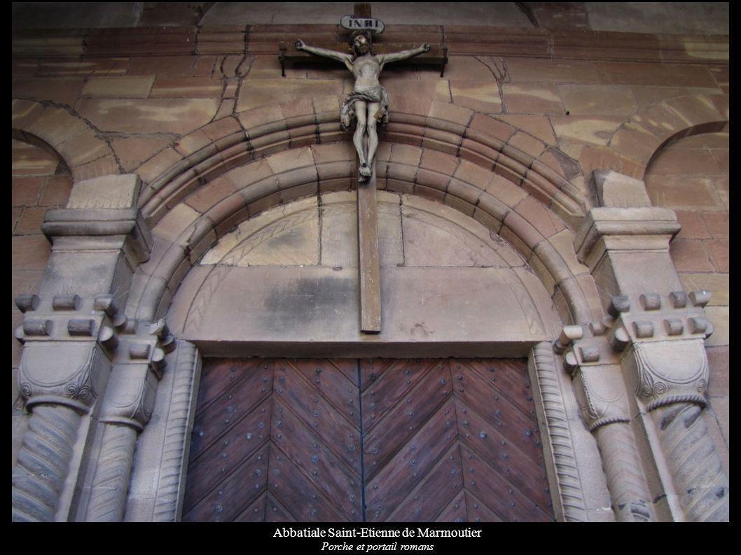Abbatiale Saint-Etienne de Marmoutier Porche et portail romans
