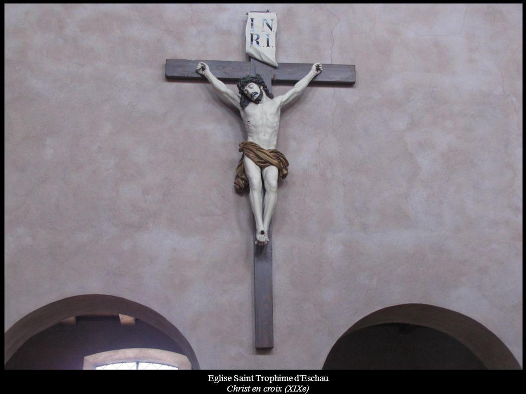 Eglise Saint Trophime d'Eschau Christ en croix (XIXe)