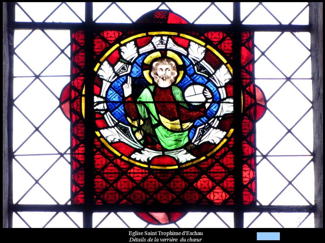 Eglise Saint Trophime d'Eschau Détails de la verrière du chœur