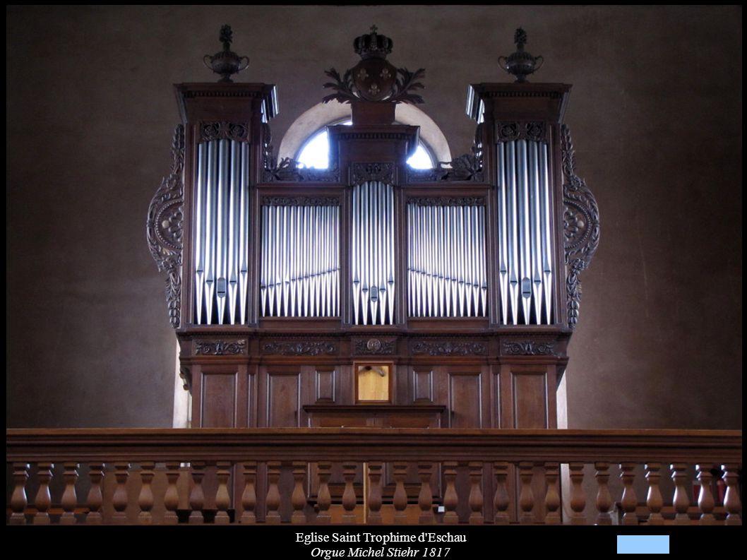 Eglise Saint Trophime d'Eschau Orgue Michel Stiehr 1817