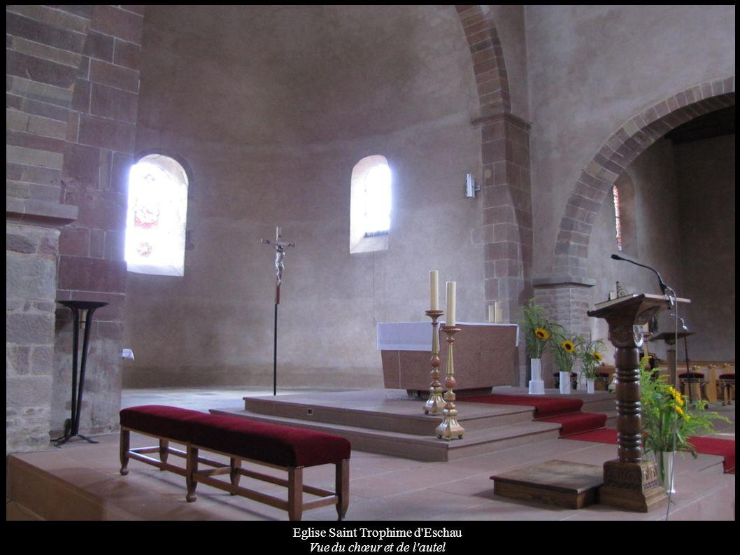 Eglise Saint Trophime d'Eschau Vue du chœur et de l'autel