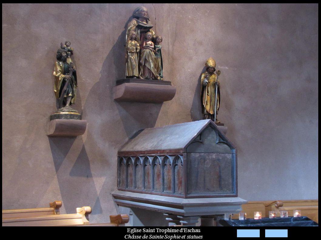 Eglise Saint Trophime d'Eschau Châsse de Sainte Sophie et statues