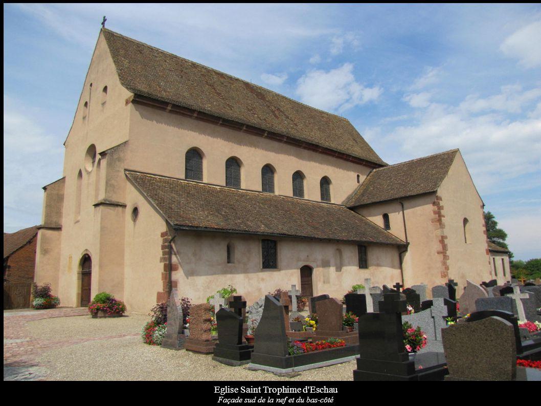 Eglise Saint Trophime d'Eschau Façade sud de la nef et du bas-côté