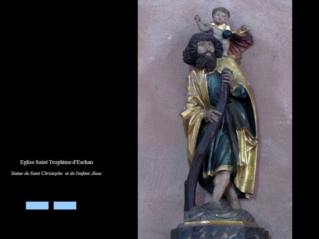Eglise Saint Trophime d'Eschau Statue de Saint Christophe et de l'enfant Jésus