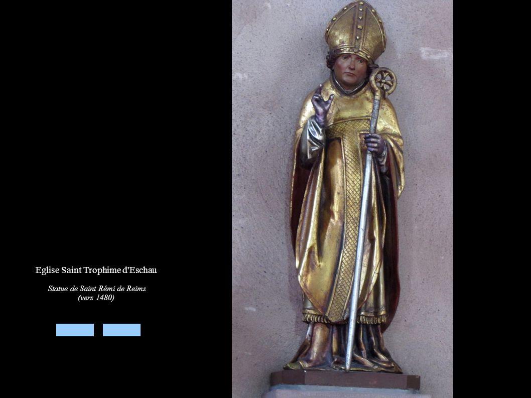 Eglise Saint Trophime d'Eschau Statue de Saint Rémi de Reims (vers 1480)