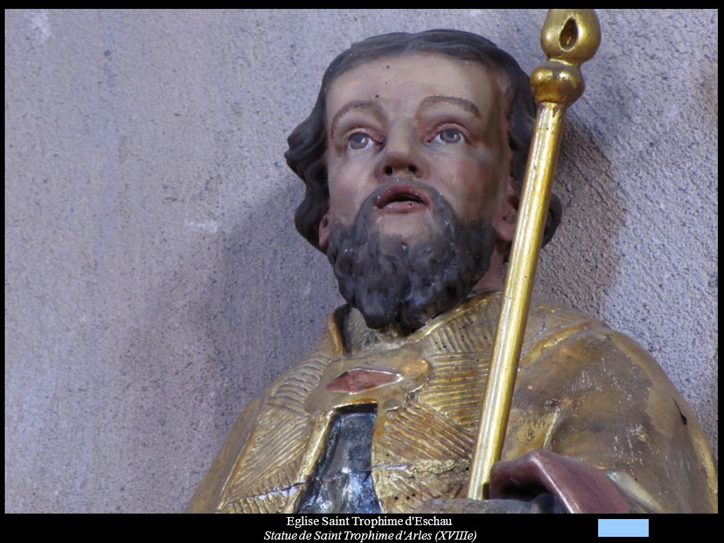 Eglise Saint Trophime d'Eschau Statue de Saint Trophime d'Arles (XVIIIe)