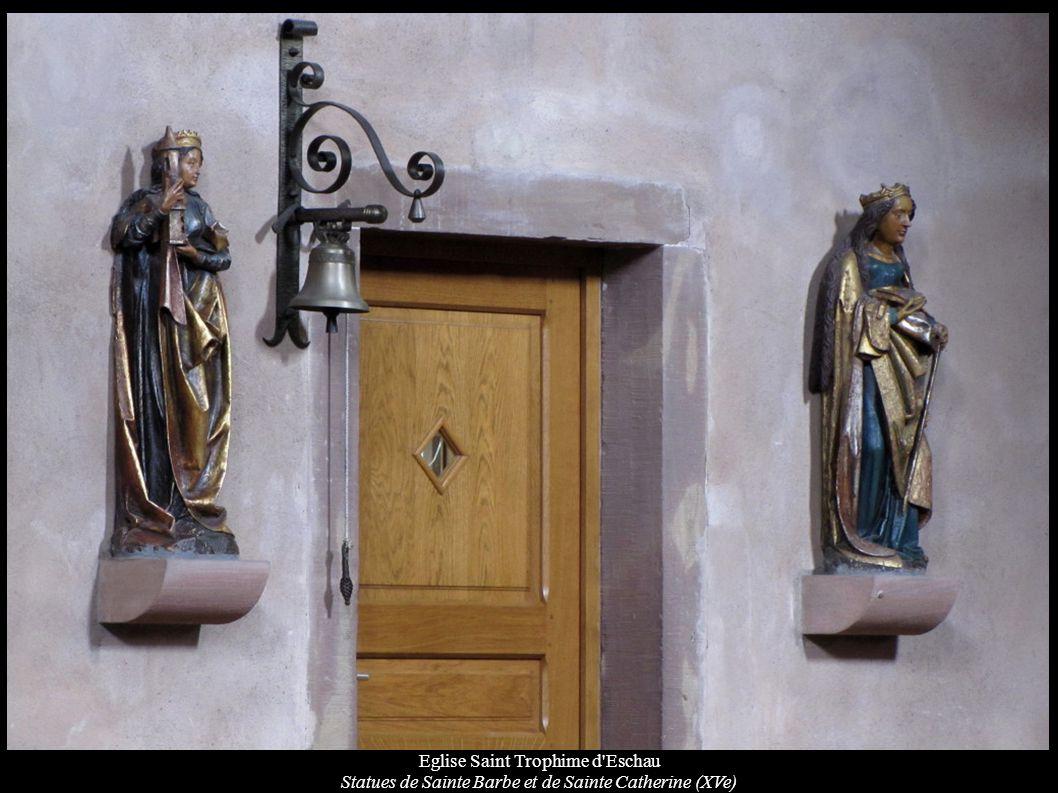 Eglise Saint Trophime d'Eschau Statues de Sainte Barbe et de Sainte Catherine (XVe)