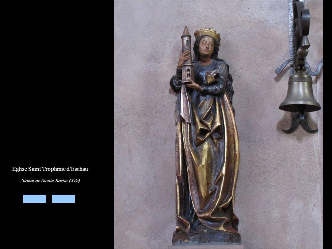 Eglise Saint Trophime d'Eschau Statue de Sainte Barbe (XVe)