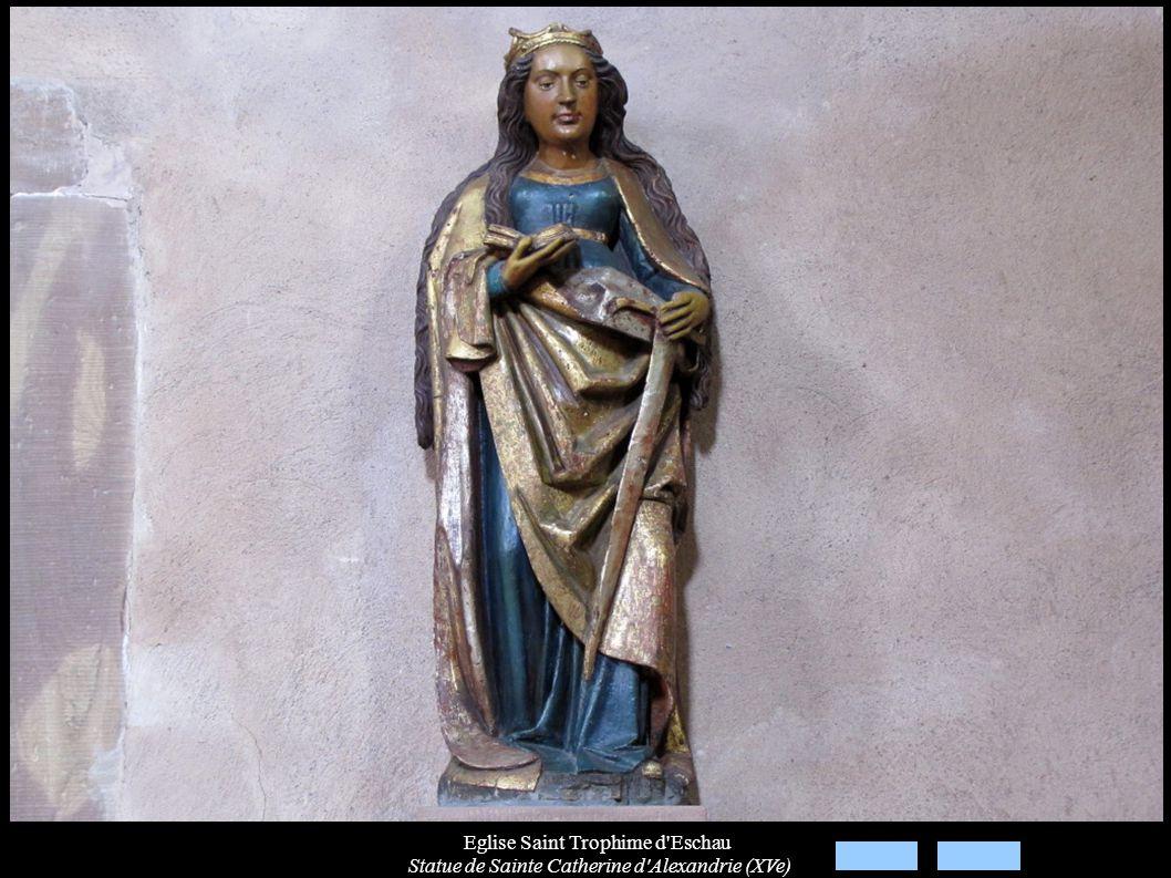 Eglise Saint Trophime d'Eschau Statue de Sainte Catherine d'Alexandrie (XVe)