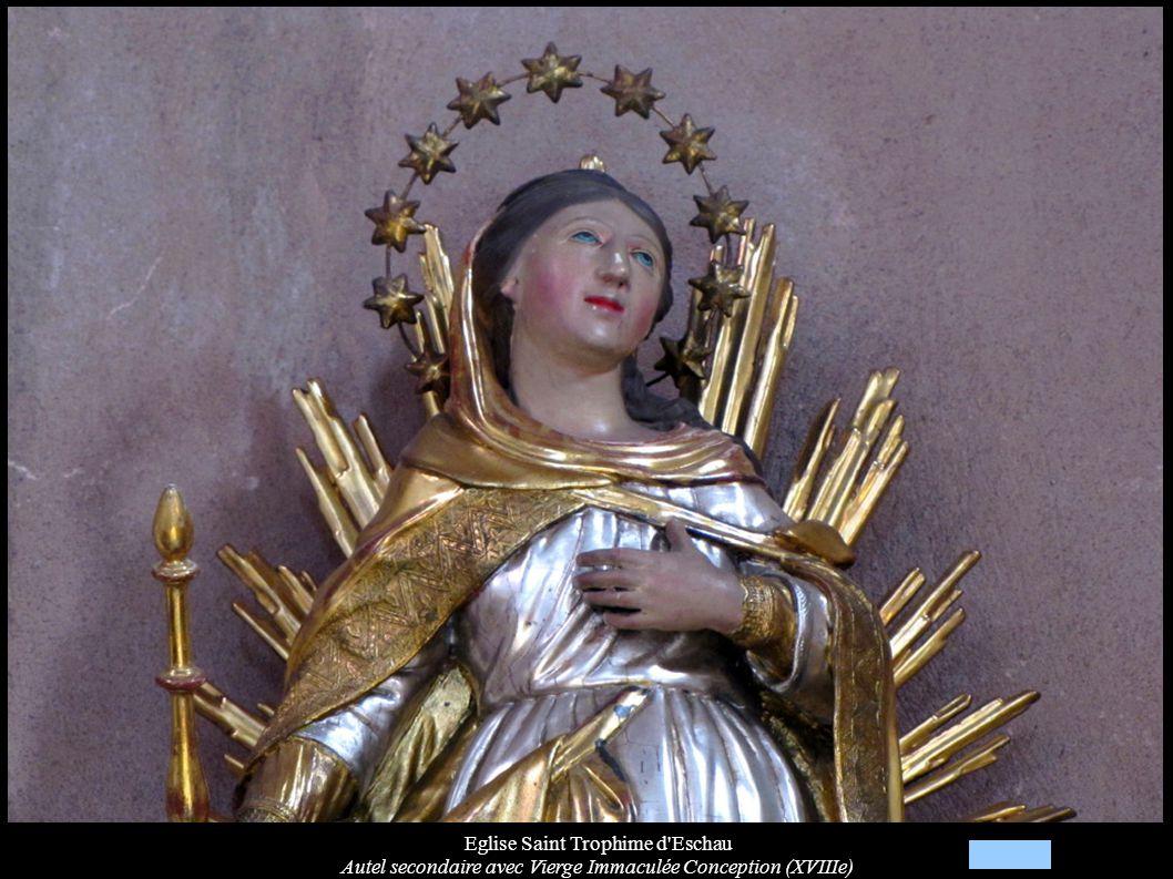 Eglise Saint Trophime d'Eschau Autel secondaire avec Vierge Immaculée Conception (XVIIIe)