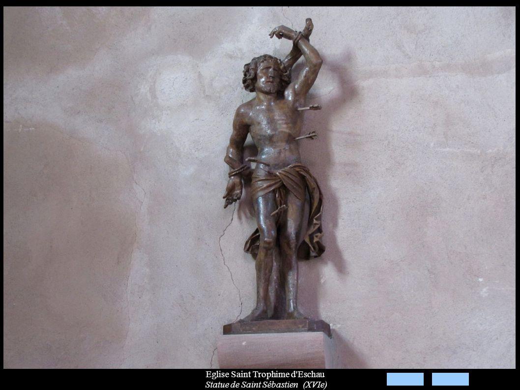 Eglise Saint Trophime d'Eschau Statue de Saint Sébastien (XVIe)
