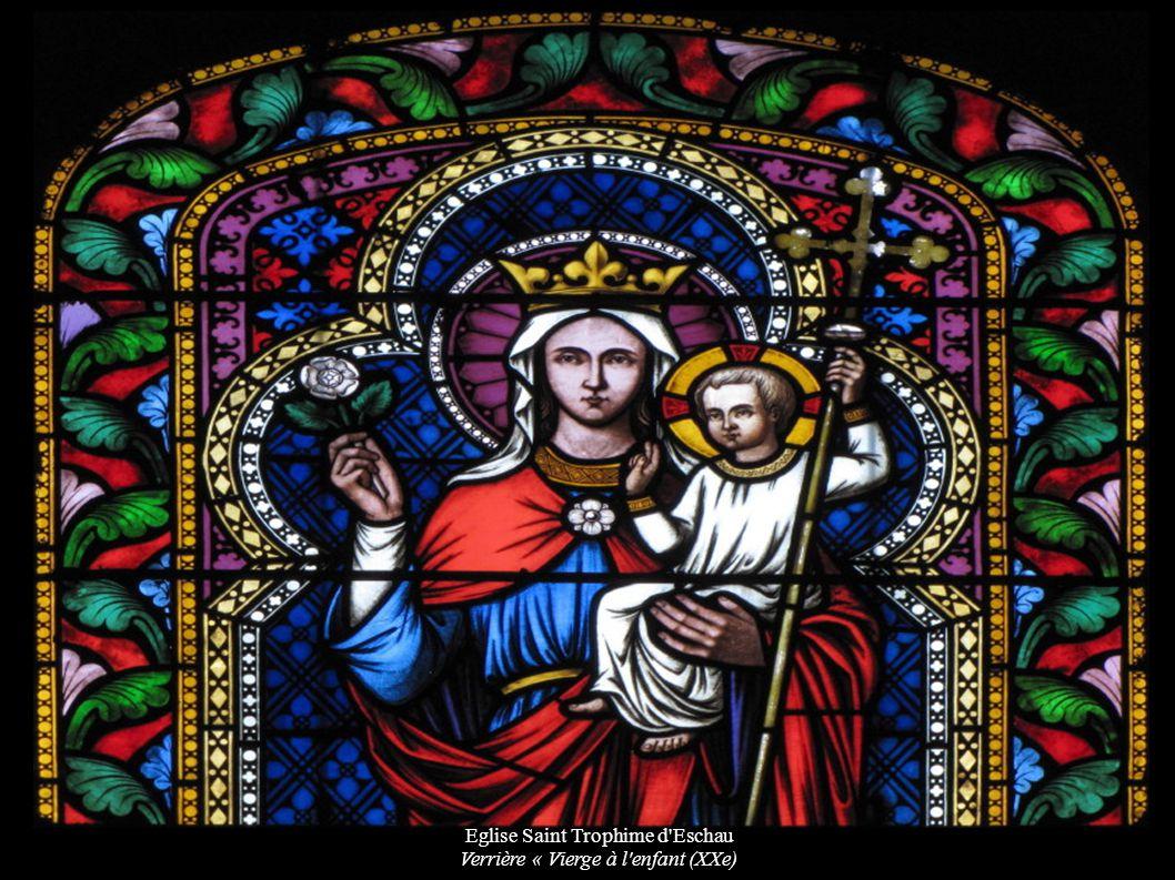 Eglise Saint Trophime d'Eschau Verrière « Vierge à l'enfant (XXe)