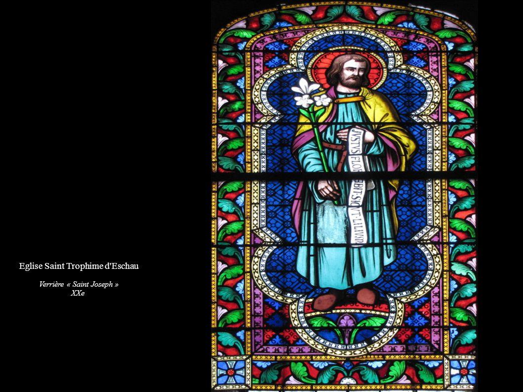 Eglise Saint Trophime d'Eschau Verrière « Saint Joseph » XXe
