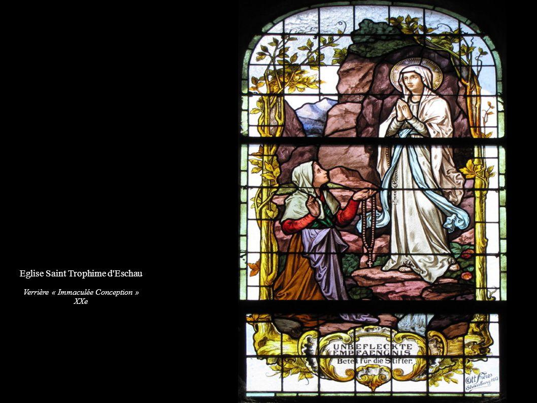 Eglise Saint Trophime d'Eschau Verrière « Immaculée Conception » XXe