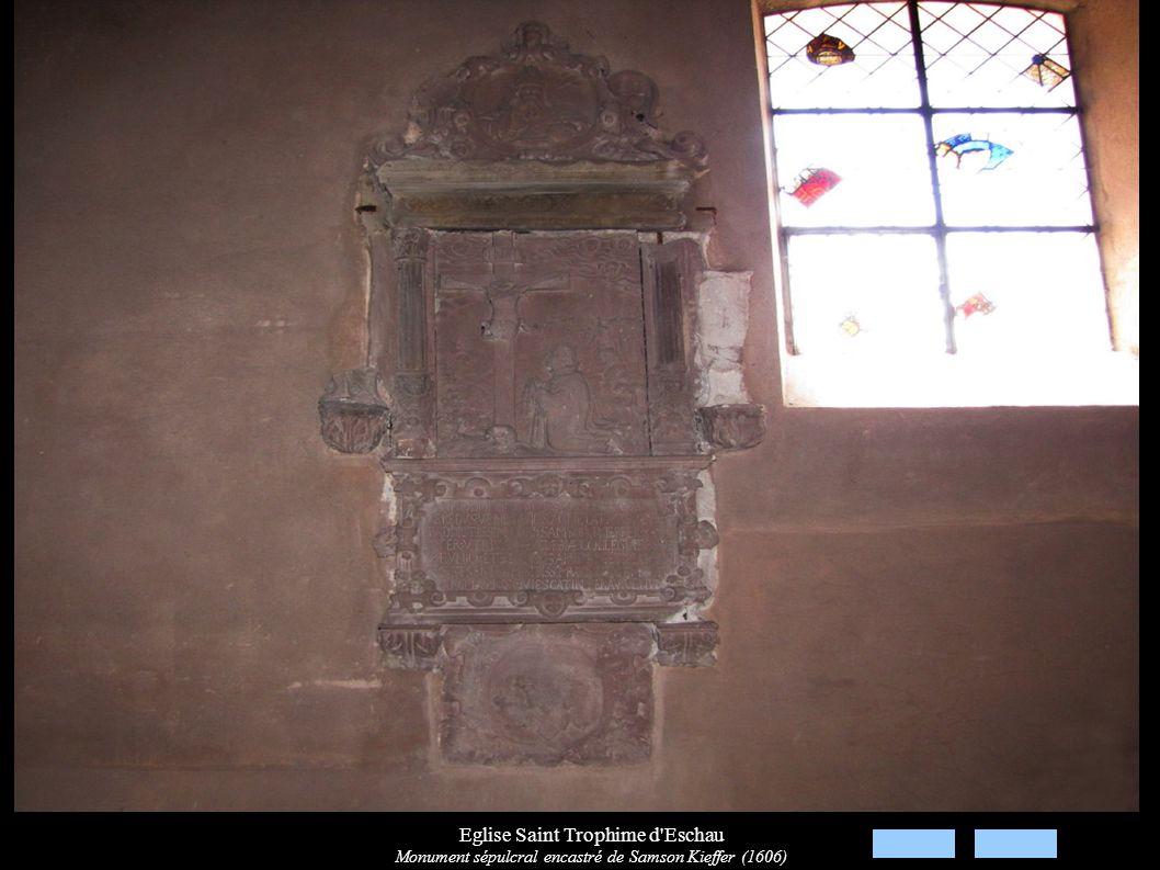 Eglise Saint Trophime d'Eschau Monument sépulcral encastré de Samson Kieffer (1606)