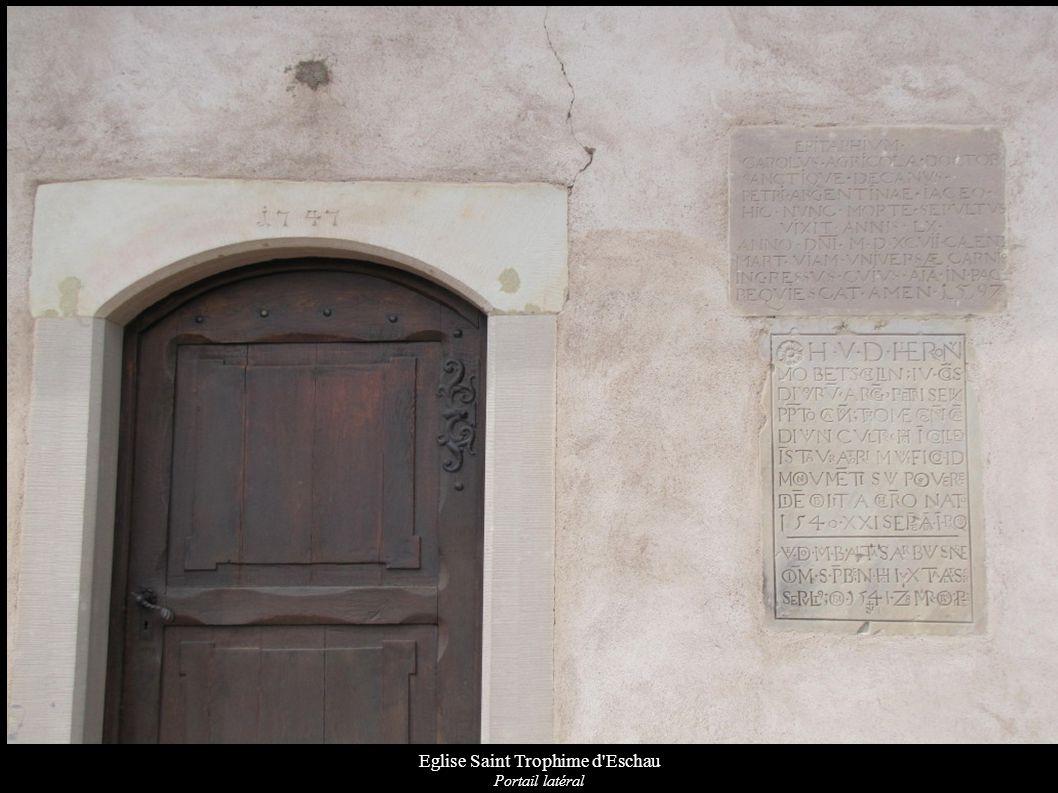 Eglise Saint Trophime d Eschau Inscriptions latines de monuments sépulcraux encastrés 1597-1541