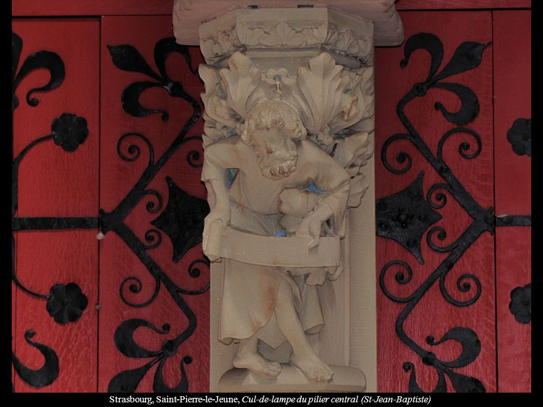 Strasbourg, Saint-Pierre-le-Jeune, Cul-de-lampe du pilier central (St-Jean-Baptiste)