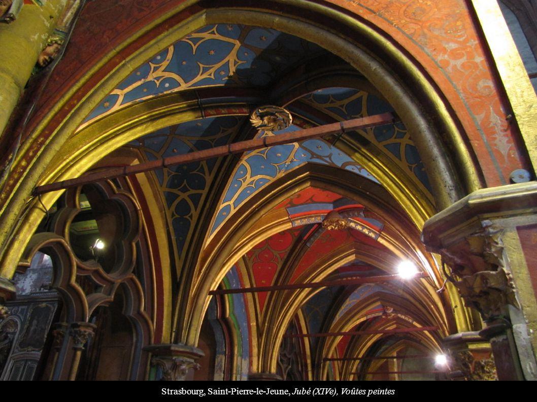 Strasbourg, Saint-Pierre-le-Jeune, Jubé (XIVe), Voûtes peintes