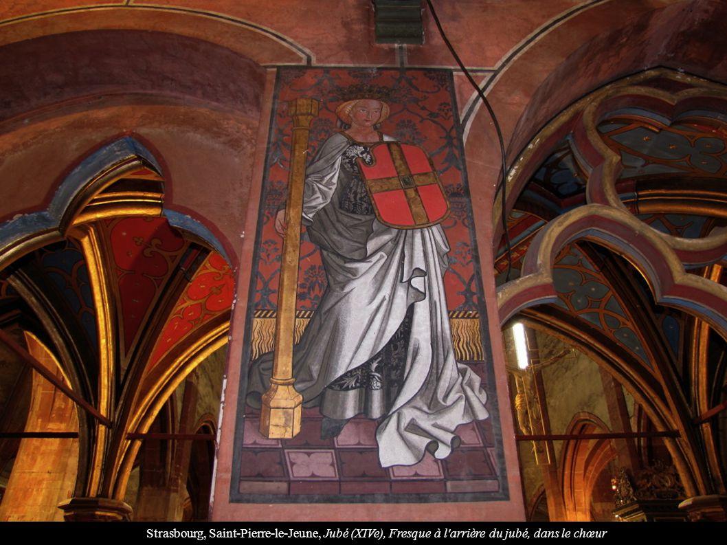 Strasbourg, Saint-Pierre-le-Jeune, Jubé (XIVe), Fresque à l'arrière du jubé, dans le chœur