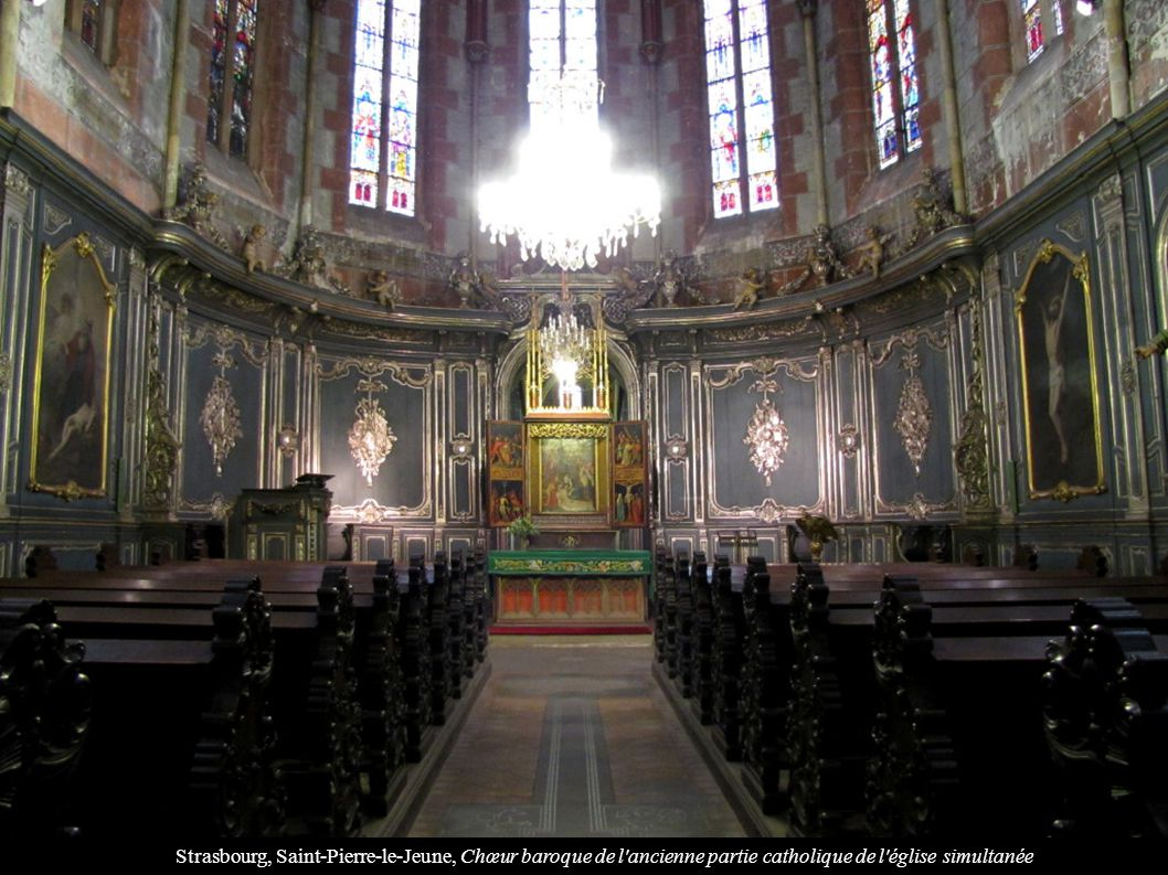 Strasbourg, Saint-Pierre-le-Jeune, Chœur baroque de l'ancienne partie catholique de l'église simultanée