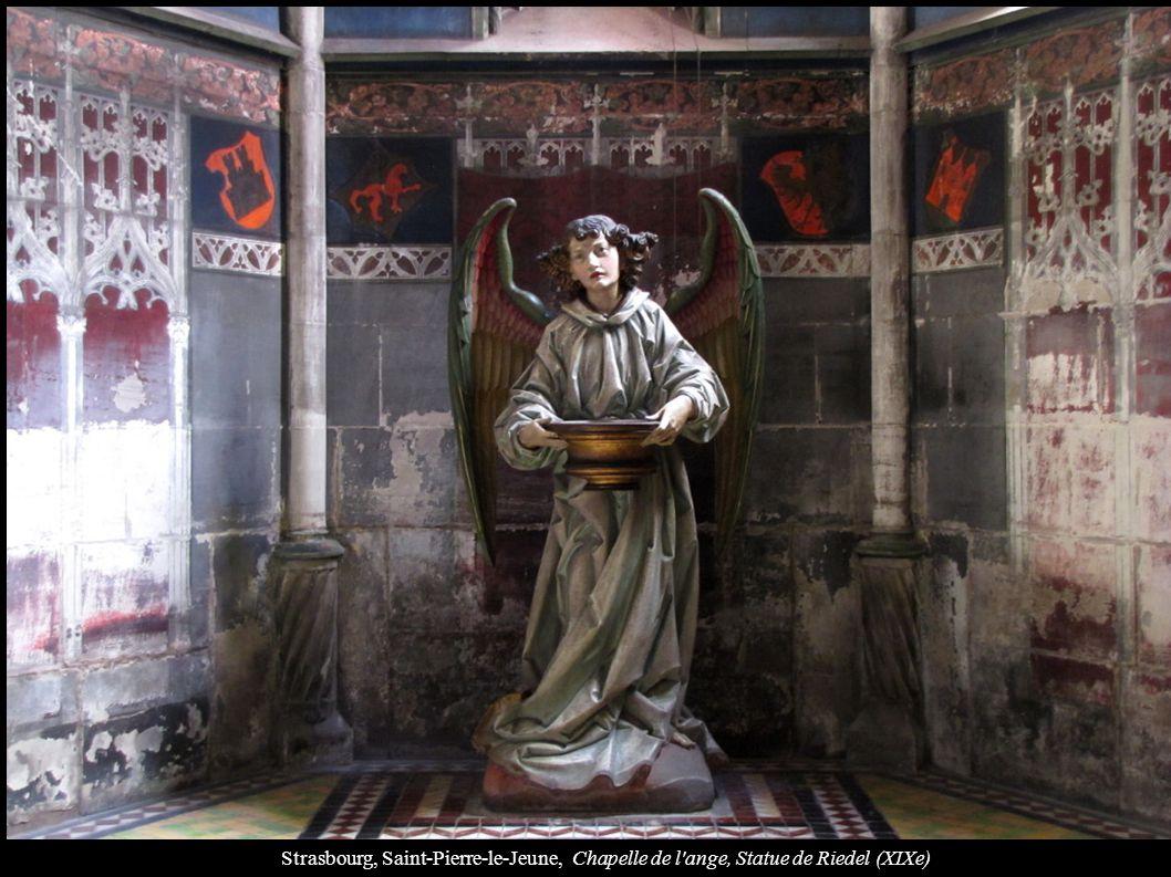 Strasbourg, Saint-Pierre-le-Jeune, Chapelle de l'ange, Statue de Riedel (XIXe)