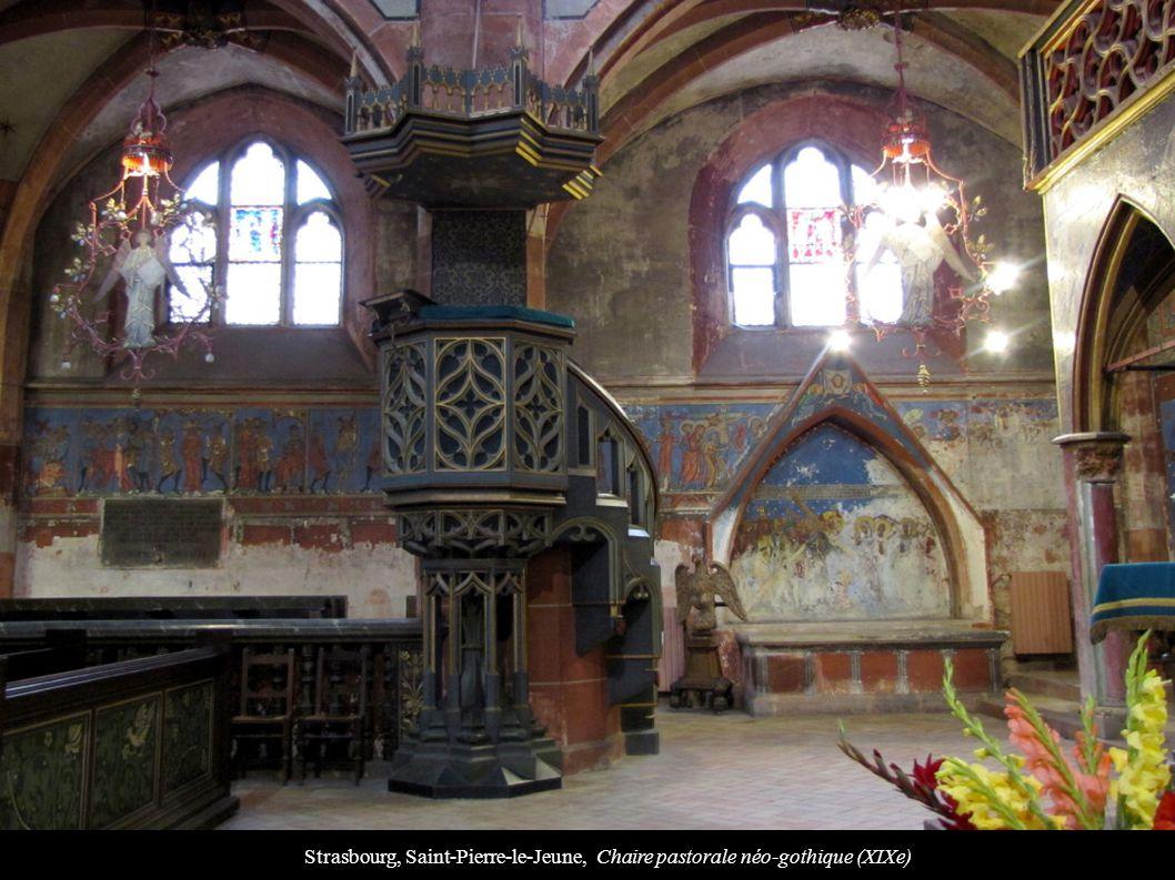 Strasbourg, Saint-Pierre-le-Jeune, Chaire pastorale néo-gothique (XIXe)