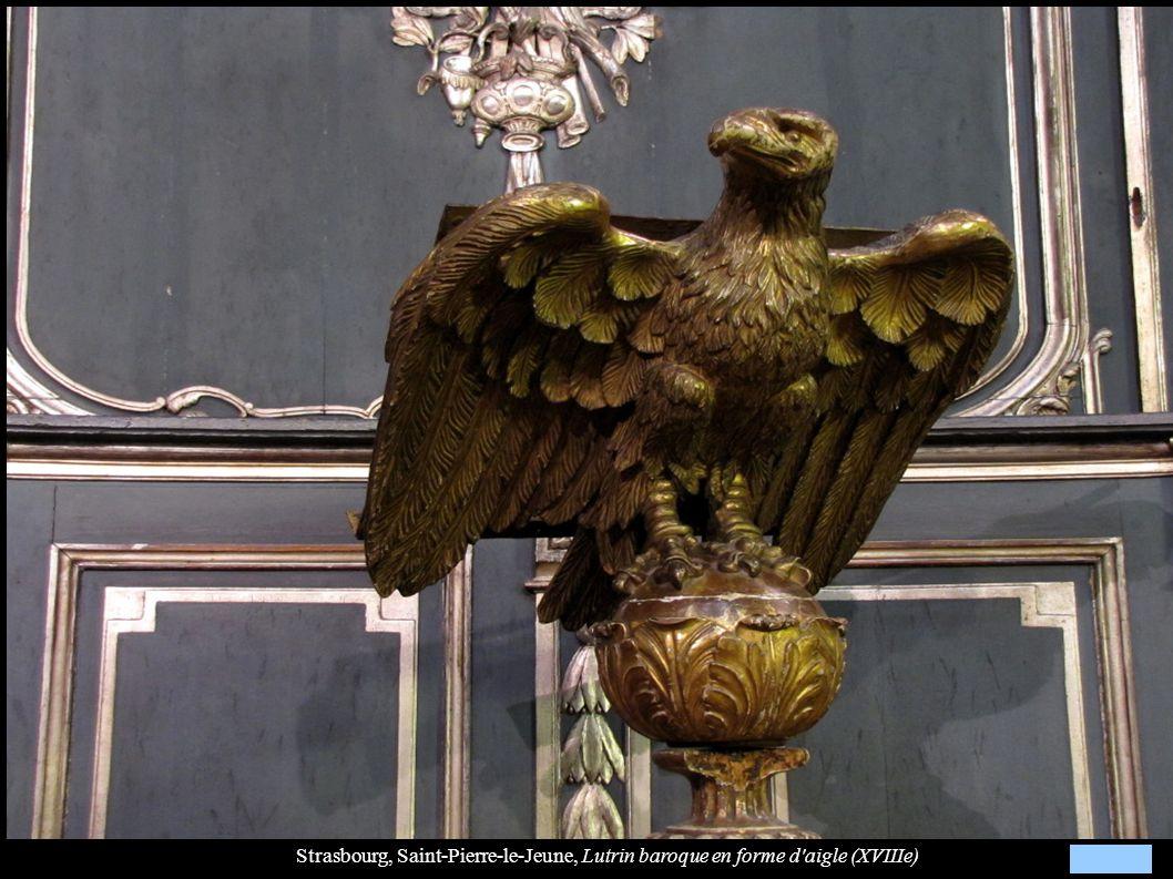 Strasbourg, Saint-Pierre-le-Jeune, Lutrin baroque en forme d'aigle (XVIIIe)