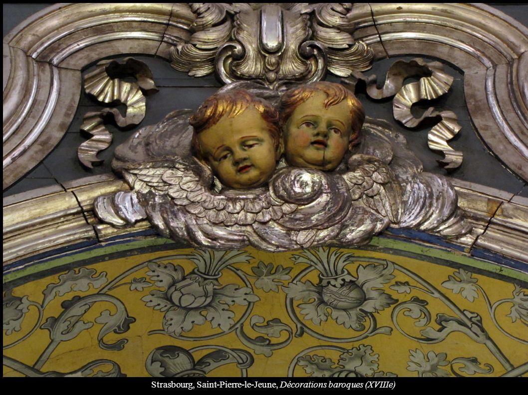 Strasbourg, Saint-Pierre-le-Jeune, Décorations baroques (XVIIIe)