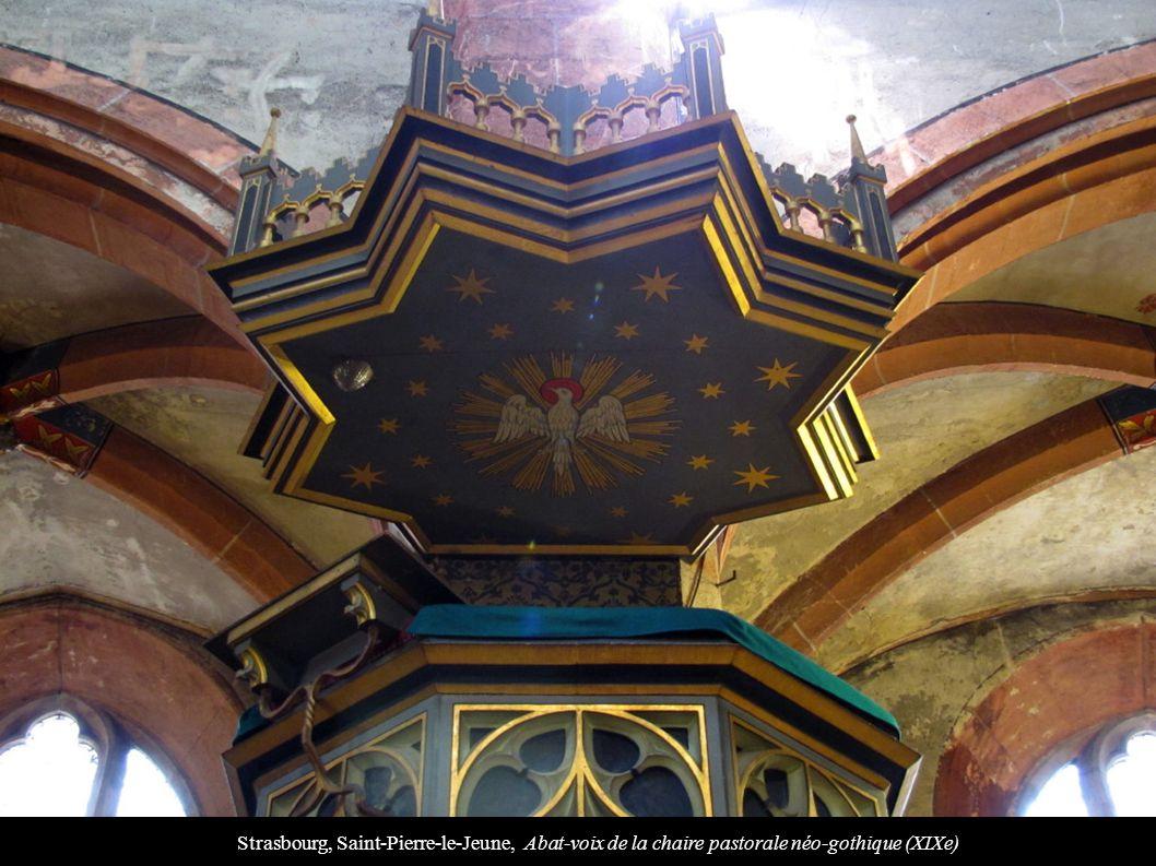 Strasbourg, Saint-Pierre-le-Jeune, Abat-voix de la chaire pastorale néo-gothique (XIXe)