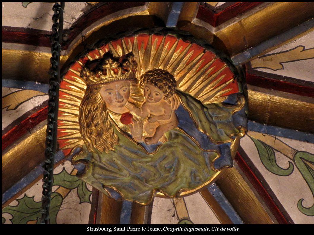 Strasbourg, Saint-Pierre-le-Jeune, Chapelle baptismale, Clé de voûte
