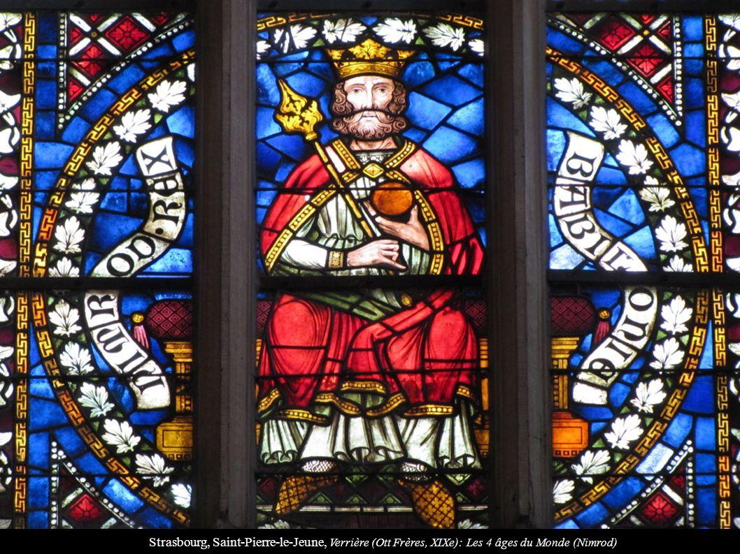 Strasbourg, Saint-Pierre-le-Jeune, Verrière (Ott Frères, XIXe): Les 4 âges du Monde (Nimrod)