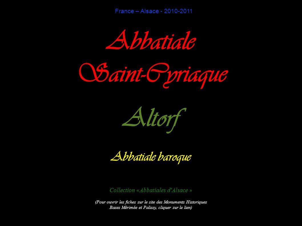 Abbatiale Saint-Cyriaque d Altorf Façade sud et ouest
