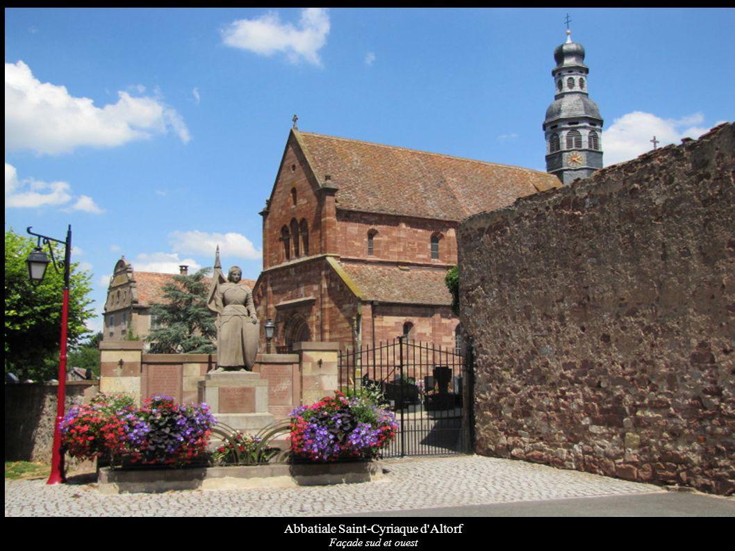 Abbatiale Saint-Cyriaque d Altorf Façade sud de l abbatiale