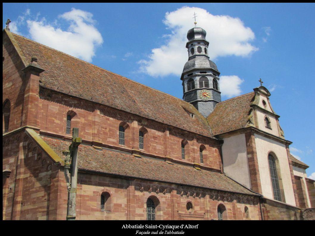 Abbatiale Saint-Cyriaque d Altorf Clocher et transept