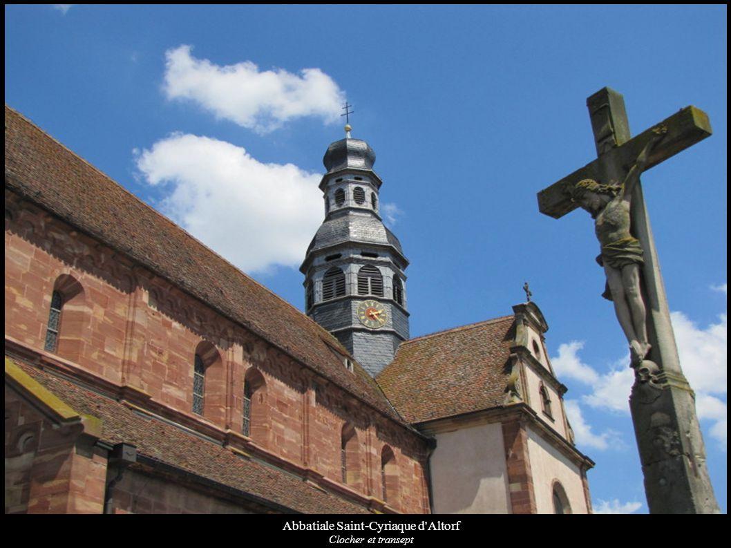 Abbatiale Saint-Cyriaque d Altorf Clocher Wikipédia Wikimedia Base Mérimée