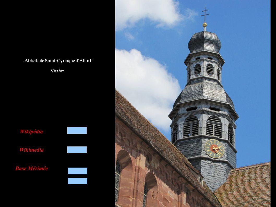 Abbatiale Saint-Cyriaque d Altorf Façade est, donnant sur le jardin et les bâtiments de l abbaye
