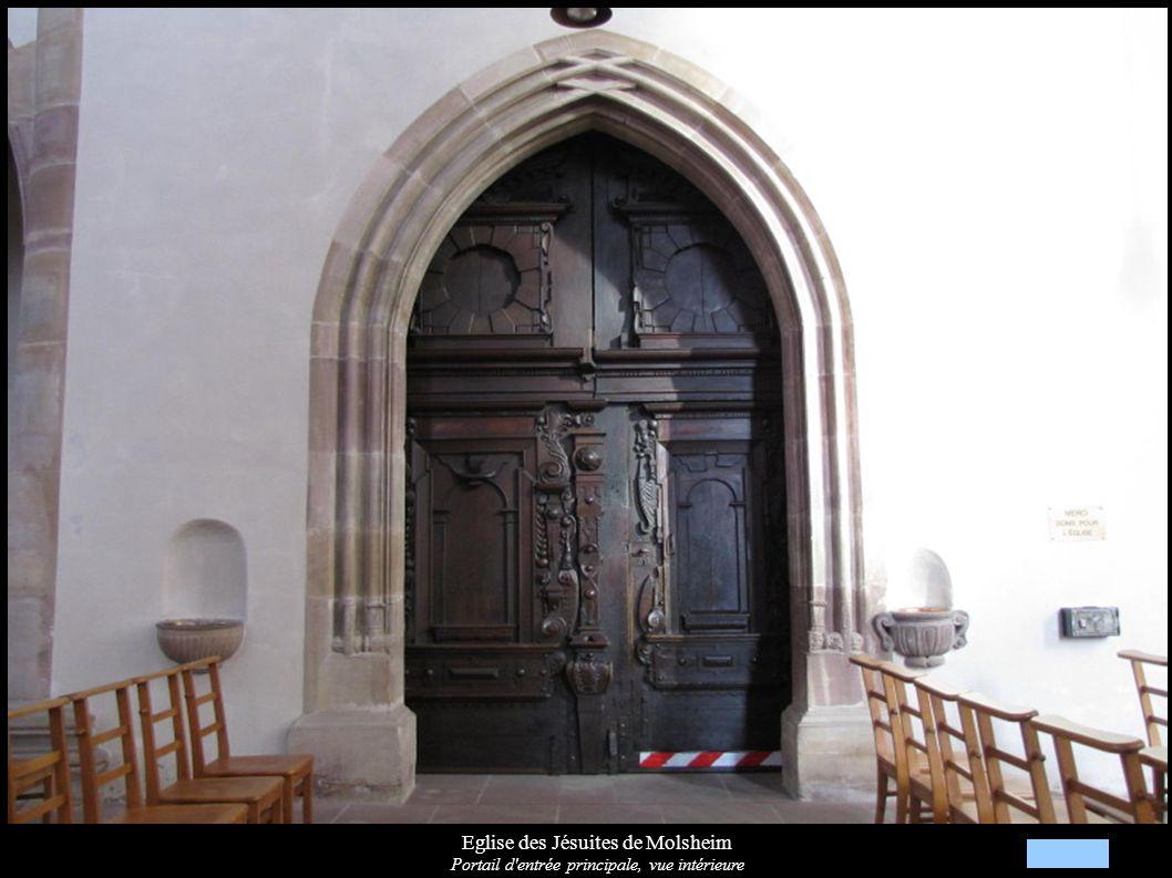 Eglise des Jésuites de Molsheim Portail d'entrée principale, vue intérieure
